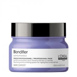 Подхранваща маска за блясък на руса коса Loreal Professionnel Blondifier 250 ml