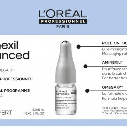 Ампули против косопад Loreal Professionnel Aminexil Advanced 42 x 6 ml