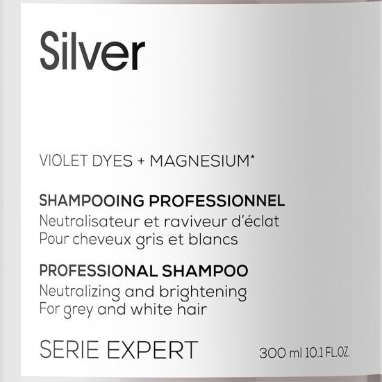 Шампоан за блясък при посивели или побелели коси Loreal Professionnel Silver 300 ml