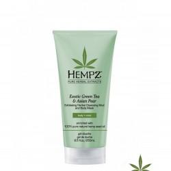 Пилинг маска за лице и тяло натурална Hempz Зелен чай и азиатска круша 250 ml